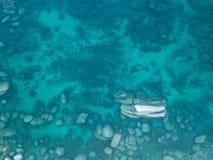 Luchtmening over rotsen in Meer Tahoe Royalty-vrije Stock Afbeeldingen