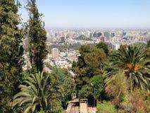Luchtmening over Santiago de Chile royalty-vrije stock afbeeldingen