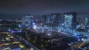 Luchtmening over Tokyo 's nachts - mooie stadslichten stock video