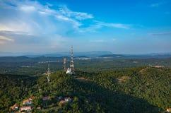 Luchtmening over Triëst Stock Afbeeldingen