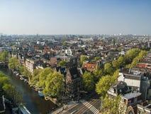 Luchtmening van Amsterdam stock fotografie