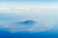 Luchtmening van baluran nationaal park in Java Indonesië Stock Afbeeldingen