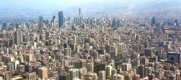 Luchtmening van Beiroet, Libanon Stock Foto's