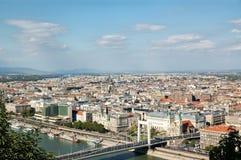 Luchtmening van Boedapest Stock Fotografie