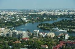 Luchtmening van Boekarest stock foto