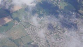Luchtmening van Brits landschap dichtbij Londen stock footage