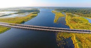 Luchtmening van brug 10 tusen staten Stock Foto's