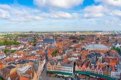 Luchtmening van Brugge, België royalty-vrije stock fotografie