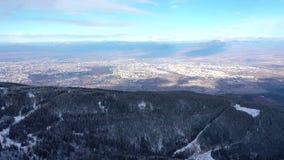 Luchtmening van Bulgaars hoofdsofia stock footage