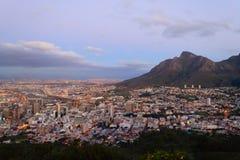 Luchtmening van Cape Town van Signaalheuvel, Zuid-Afrika royalty-vrije stock foto
