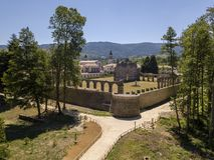 Luchtmening van Certosa-Di Serra San Bruno, Vibo Valentia, Calabrië, Italië Stock Fotografie