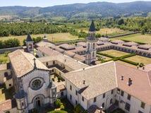 Luchtmening van Certosa-Di Serra San Bruno, Vibo Valentia, Calabrië, Italië Stock Afbeelding
