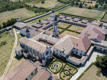 Luchtmening van Certosa-Di Serra San Bruno, Vibo Valentia, Calabrië, Italië Royalty-vrije Stock Fotografie