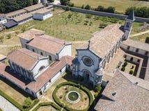 Luchtmening van Certosa-Di Serra San Bruno, Vibo Valentia, Calabrië, Italië Royalty-vrije Stock Foto