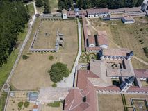 Luchtmening van Certosa-Di Serra San Bruno, Vibo Valentia, Calabrië, Italië Stock Foto's