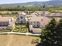 Luchtmening van Certosa-Di Serra San Bruno, Vibo Valentia, Calabrië, Italië Stock Foto