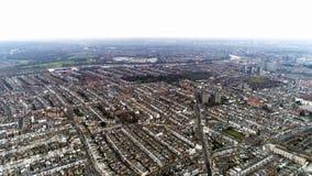 Luchtmening van Chelsea, Fulham, het Westen Kensington en Predikanten Groen in Londen stock foto