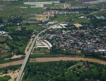 Luchtmening van Chiang Mai, Thailand Stock Foto's