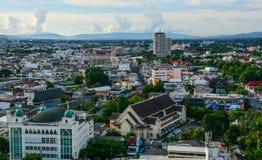 Luchtmening van Chiang Mai, Thailand Stock Foto