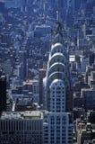 Luchtmening van Chrysler-de Bouw van Empire State Building royalty-vrije stock fotografie