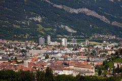 Luchtmening van Chur, Zwitserland royalty-vrije stock foto