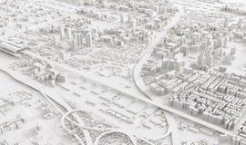 Luchtmening van cityscape Stock Afbeeldingen