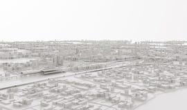 Luchtmening van cityscape Royalty-vrije Stock Afbeelding