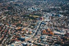 Luchtmening van cityscape Australië Sydney stock afbeelding