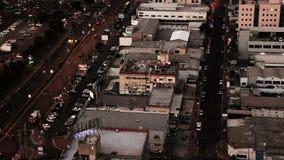 Luchtmening van cityscape van Ramat Gan Industrial en Commercieel Gebied stock videobeelden