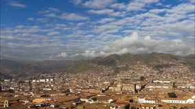 Luchtmening van Cusco, Peru stock video