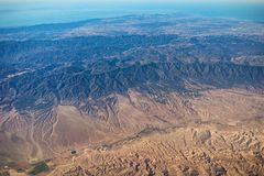 Luchtmening van Cuyama-Riviervallei, San Rafael Wilderness, Santa Ynez Valley stock afbeeldingen