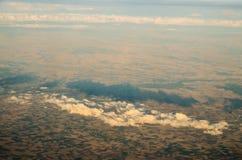 Luchtmening van de aarde Stock Foto