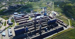 Luchtmening van de aluminium de Metallurgische Installatie Royalty-vrije Stock Afbeelding