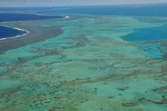 Luchtmening van de Beroemde lagune van Nieuw-Caledonië stock afbeeldingen