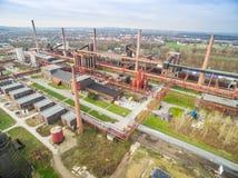 Luchtmening van de erfeniskolenmijn Zollverein Stock Fotografie