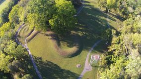 Luchtmening van de grote Serpenthoop van Ohio - spiraalvormige staart aan het eind royalty-vrije stock foto