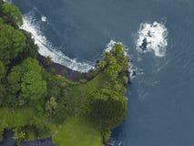 Luchtmening van de het noordenkust, Kauai Stock Foto