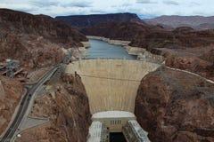 Luchtmening van de Hoover-Dam stock fotografie