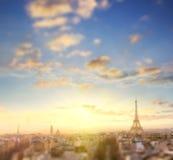 Luchtmening van de horizon van Parijs en de toren van Eiffel, Frankrijk Stock Afbeeldingen