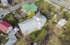 Luchtmening van de kerk van Heilige Andrew Sf Andrei stock fotografie