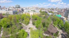 Luchtmening van de Landschappen van Kiev stock video