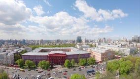 Luchtmening van de Landschappen van Kiev stock footage