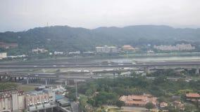 Luchtmening van de mooie Stad van Taipeh stock footage