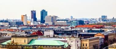 Luchtmening van de stad van Berlijn, Duitsland royalty-vrije stock afbeelding