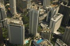 Luchtmening van de stad, Kuala Lumpur, Maleisië stock afbeeldingen