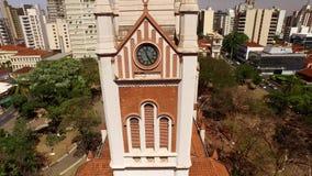 Luchtmening van de stad van Ribeirao Preto in Sao Paulo, Brazilië stock videobeelden