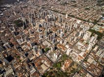 Luchtmening van de stad van Ribeirao Preto in Sao Paulo, Brazilië Stock Fotografie