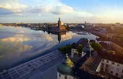 Luchtmening van de stad van Stockholm Royalty-vrije Stock Afbeeldingen