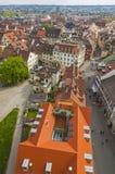 Luchtmening van de stad van Konstanz, Duitsland stock fotografie