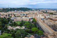 Luchtmening van de stad van Vatikaan stock afbeelding